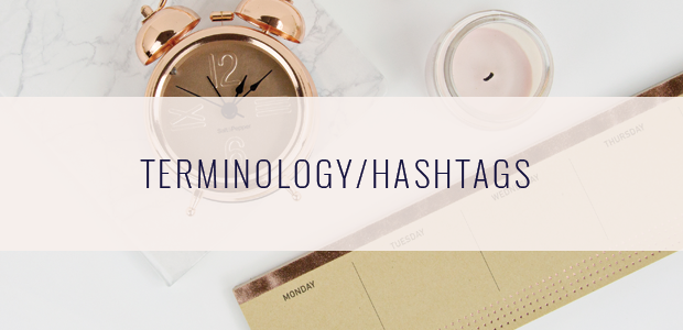 Terminology-Hashtags